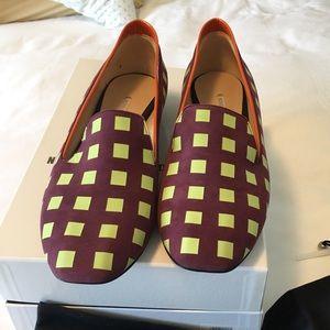 New in Box Nicholas Kirkwood suede slippers (9-10)